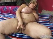 freckled blonde fat mom