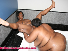 Busty and Diamond eating pussy in the tub and on a black - Picture 9