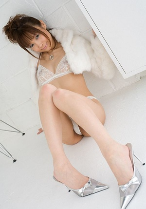 Cutie in sheer white lingerie disrobes in a white room. - XXXonXXX - Pic 6