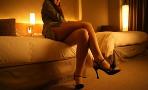 Doll ditches her black lingerie and pantyhose in the bedroom. - XXXonXXX - Pic 1