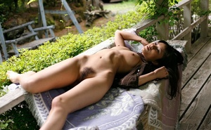 Bimbo in a black knit top shows her body on the porch. - XXXonXXX - Pic 11