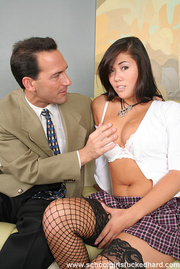 student plaid skirt gets