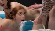 inked masked pervert torturing