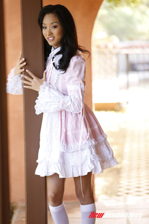 China doll in Victorian dress gets cream - XXX Dessert - Picture 1