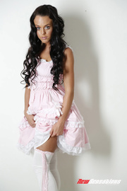 prudent pink ruffles takes