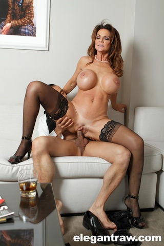 image Hot busty brunette milf works over son