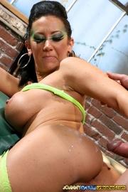 nasty hottie wearing green