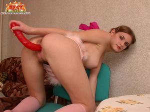 Horny cute teen slut shoves big double dildo in pussy before doggy style fuck - XXXonXXX - Pic 8