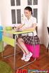 Sexy student in white shirt and short skirt sucks…