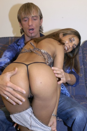 Two hot naughty teens and two guys strip to suck cocks and get double fucked hard - XXXonXXX - Pic 5