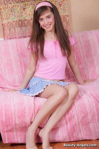 teen pink top blue