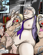 Crazy toon scenes of hard group fucking with toys on the military base.