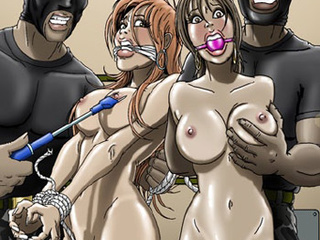 Busty chick with roped hands and - BDSM Art Collection - Pic 4