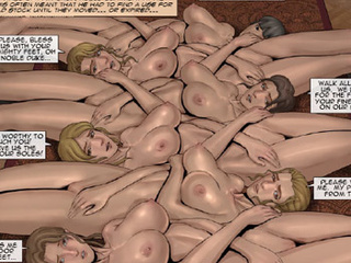 Long-haired blonde master with a beard - BDSM Art Collection - Pic 2