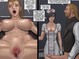 Bound slave girl made pissing and a guy - BDSM Art Collection - Pic 1