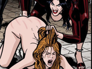 Enchained girls getting humiliated and - BDSM Art Collection - Pic 2