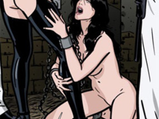 Enchained girls getting humiliated and - BDSM Art Collection - Pic 3