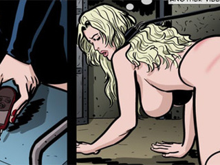Poor blonde chick getting punished and - BDSM Art Collection - Pic 3