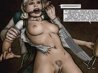Old guy offers to fuck two roped - BDSM Art Collection - Pic 2