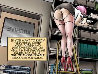 This office is a real paradise for - BDSM Art Collection - Pic 4