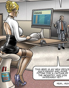Submissive office sluts obeying their bosses and fucking with clients.