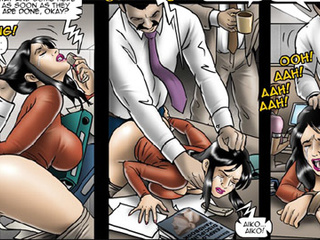 Office cuties serving their bosses and - BDSM Art Collection - Pic 2