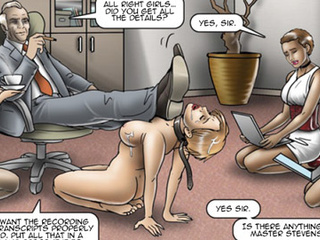 Office cuties serving their bosses and - BDSM Art Collection - Pic 3