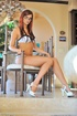 Glamour model Jayden Cole nipple stretching