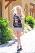 Teen Haley Cummings dress and heels