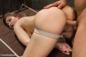 Dark-haired chick with bg boobs gets rop - XXX Dessert - Picture 6
