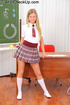 Blonde chick in uniform gets her tight pooper…