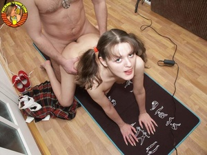 Young tattooed slut sucks dick like a pro and gets banged doggy style on floor - XXXonXXX - Pic 15