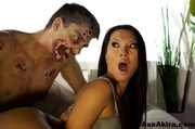 lusty asian chick lays