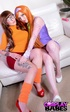 Naughty young chicks with brown and orange hair…