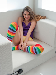 Girl-next-door with socks on sure is worth cozying - XXXonXXX - Pic 4