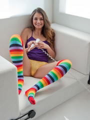 Girl-next-door with socks on sure is worth cozying - XXXonXXX - Pic 9