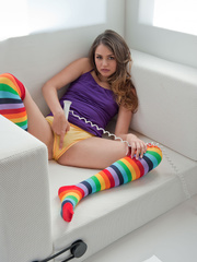 Girl-next-door with socks on sure is worth cozying - XXXonXXX - Pic 14