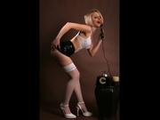 blonde bluesmile striptease