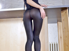 Blond wearing tights that are like a second skin - XXXonXXX - Pic 2