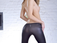 Blond wearing tights that are like a second skin - XXXonXXX - Pic 7