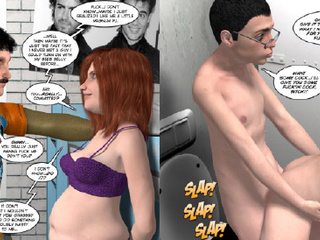 Absolutely crazy comics with black and white pregnant - Picture 3