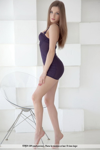 pretty blonde purple lingerie