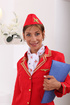 Perfect stewardess gal does some golden shower fun at the office.