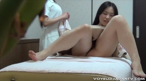 Oily massage gets hotter as spy camera catches cute tits Asian getting fingered - XXXonXXX - Pic 16