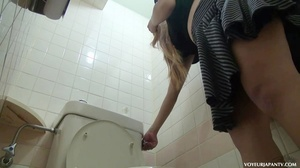 Naughty chick in black panties takes a piss and spares some time fingering pussy - XXXonXXX - Pic 16
