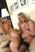 Charming blondes strip themselves to kiss and play with their large size