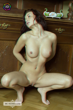 Stunning fledgling modelling without clothes on a big China cabinet. - XXXonXXX - Pic 4