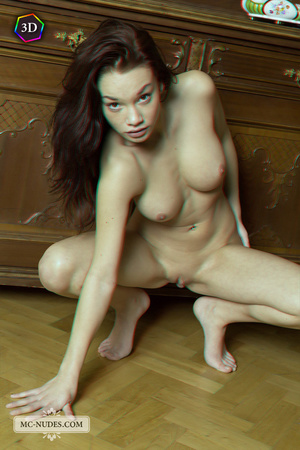 Stunning fledgling modelling without clothes on a big China cabinet. - XXXonXXX - Pic 9