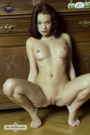 Stunning fledgling modelling without clothes on a big China cabinet. - XXXonXXX - Pic 10