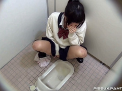 Cute Asian chick in school uniform take a piss - XXXonXXX - Pic 11